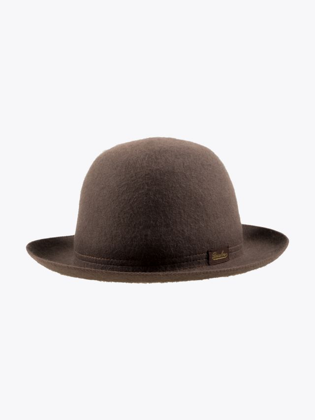 Borsalino Hat Medium-Brimmed Traveller Rabbit-Felt Brown 1