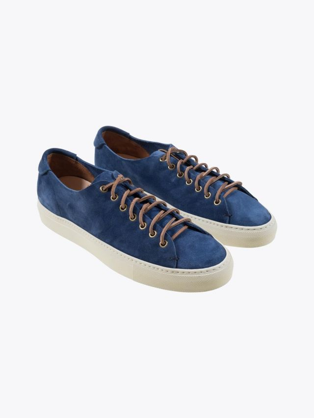 Buttero Suede Tanino Low Sneakers Bluette Front
