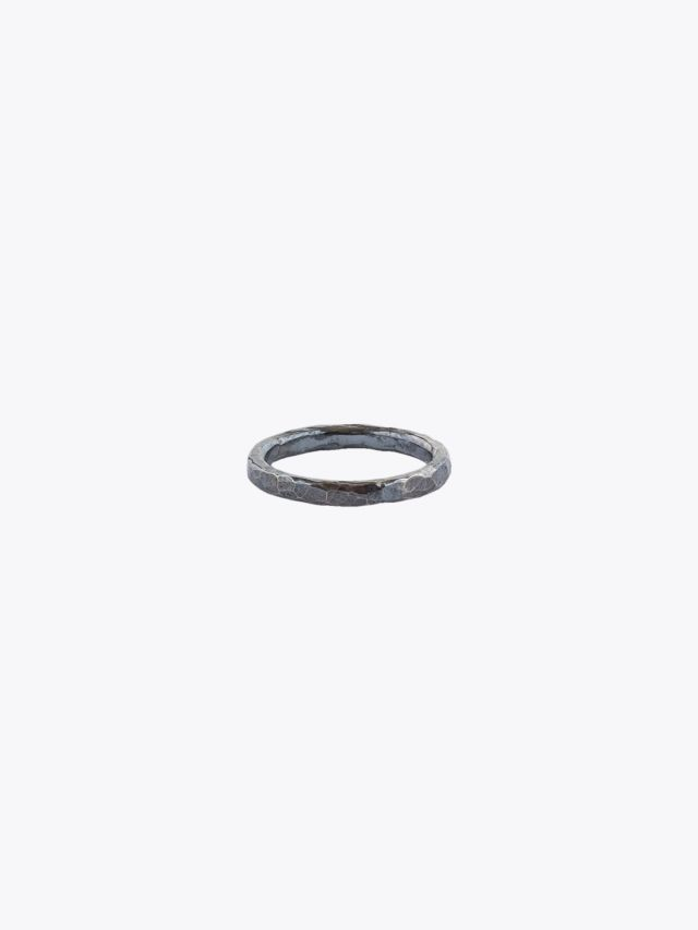 Barbara Zuna-Kratky Women Hammered Ring Silver Blackened 1