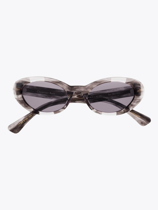Christian Roth Round-Wav Sunglasses Grey Smoke - Light Grey Crystal 1