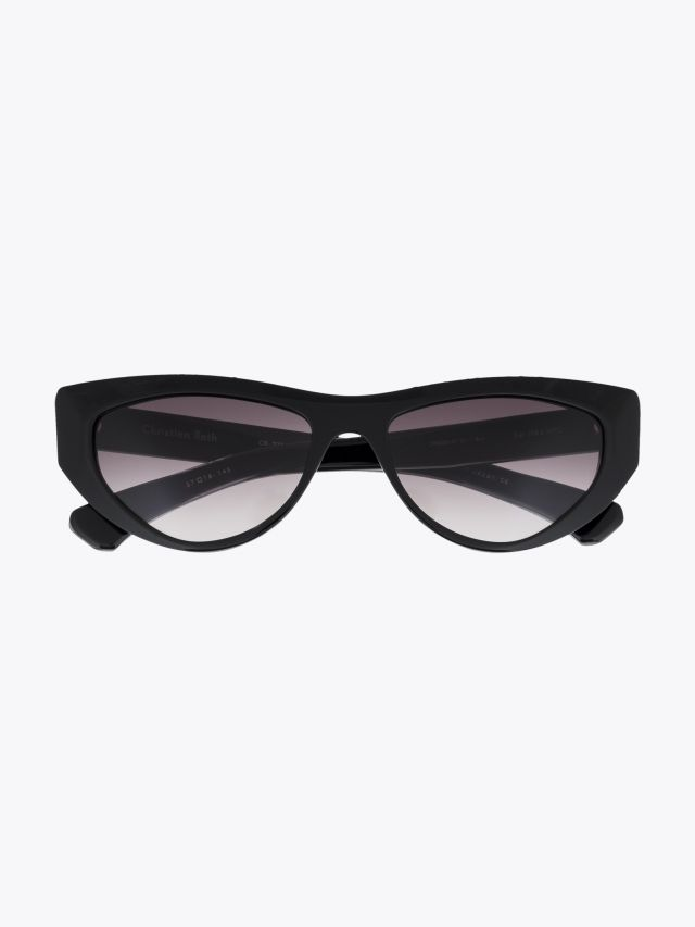 Christian Roth CR-703 Sunglasses Black / Clear Black 1