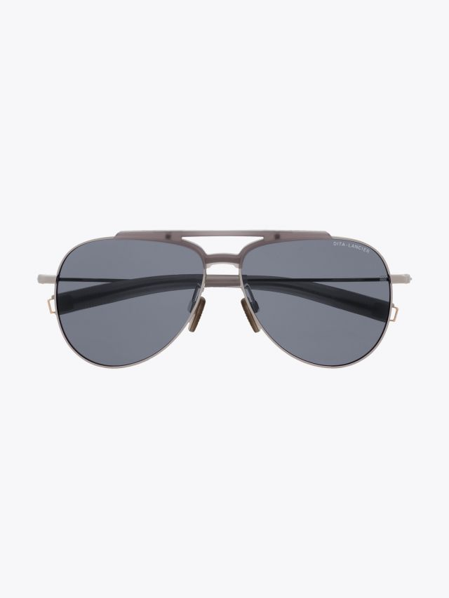 Dita-Lancier LSA-401 Sunglasses Matte Crystal Grey – Black Palladium 1