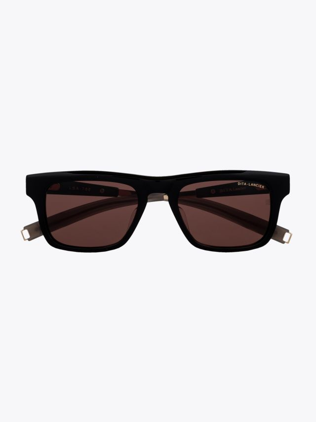 Dita-Lancier LSA-700 Rectangle Sunglasses Black 1
