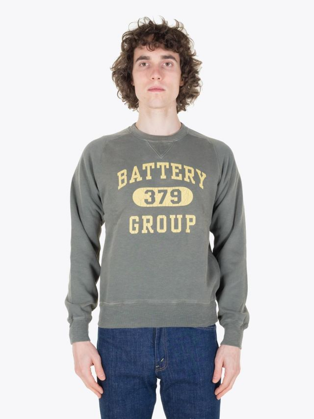 Double RL Sweat Crew Neck Fleece Solid Faded Grass Full View