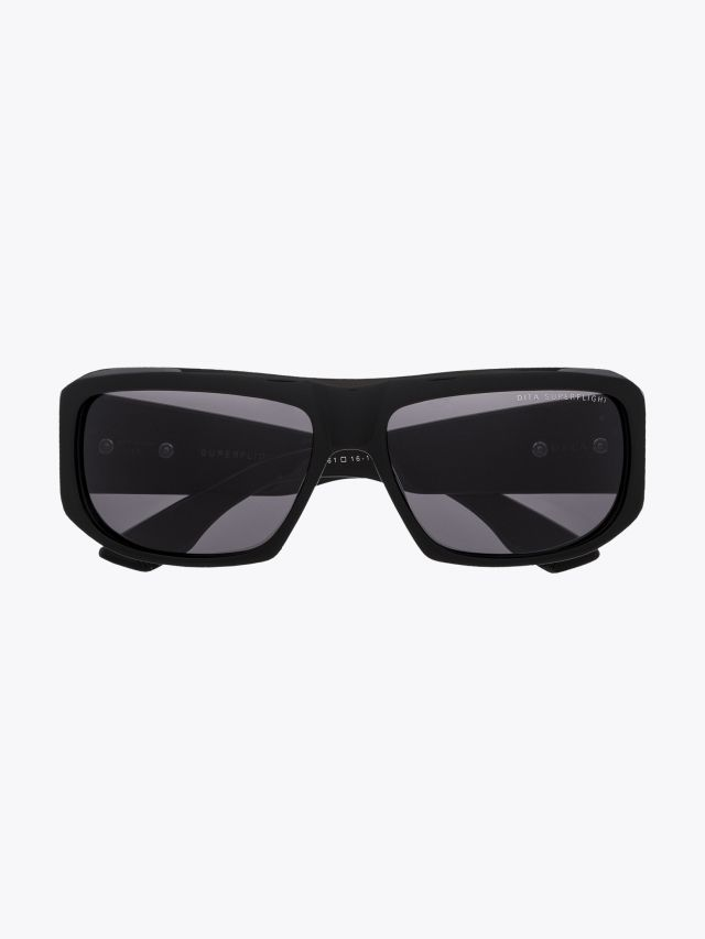 Dita Superflight Rectangular Sunglasses Black / Silver 1
