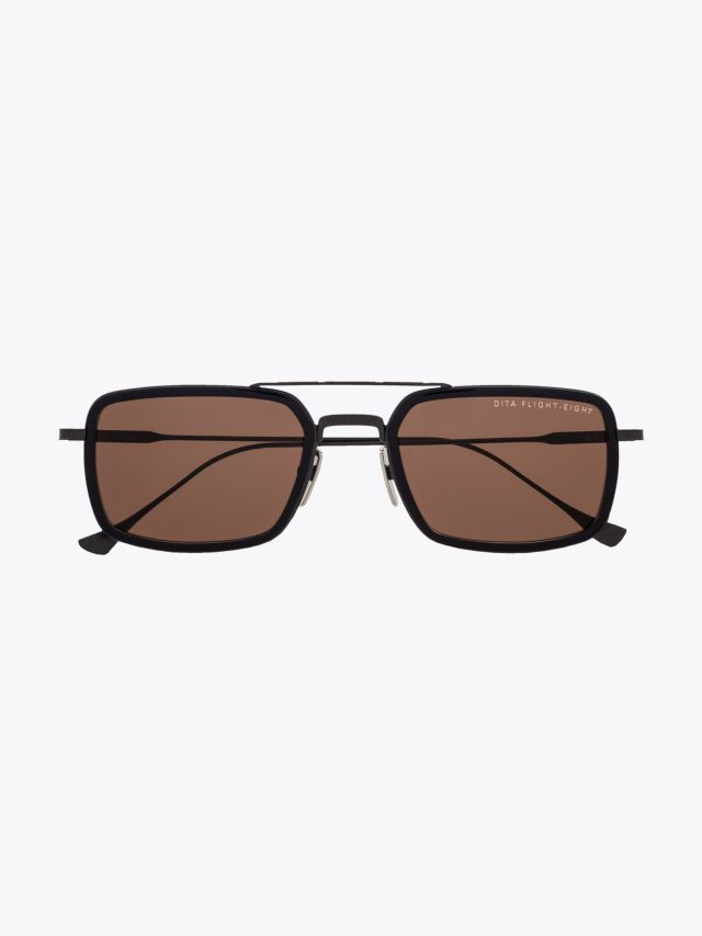 Dita Flight.008 Aviator Sunglasses Navy / Black Iron 1