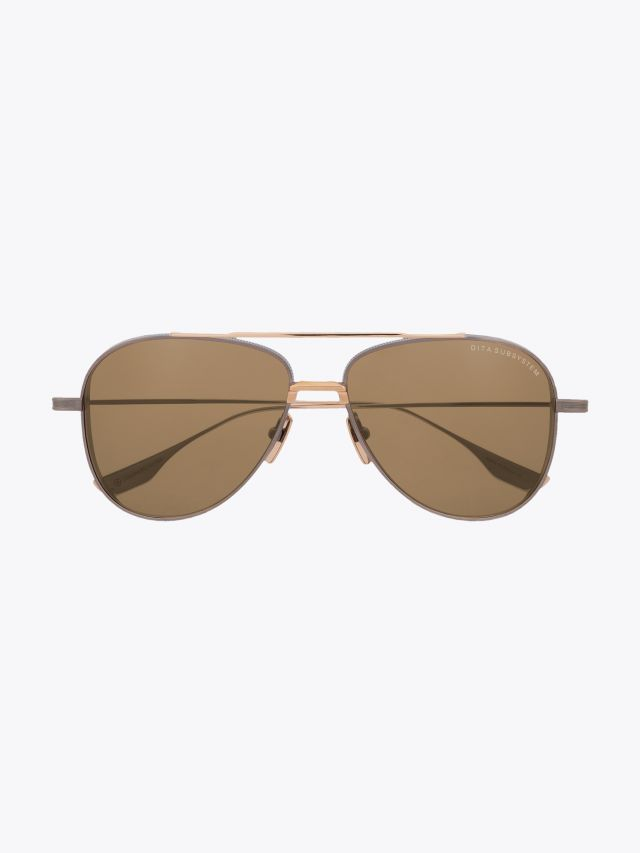 Subsystem - Dita Sunglasses Aviator Antique Silver/Gold front view