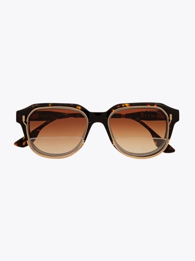Dita Varkatope Limited Edition Sunglasses Tortoise with removable reader lens carrier system Front View