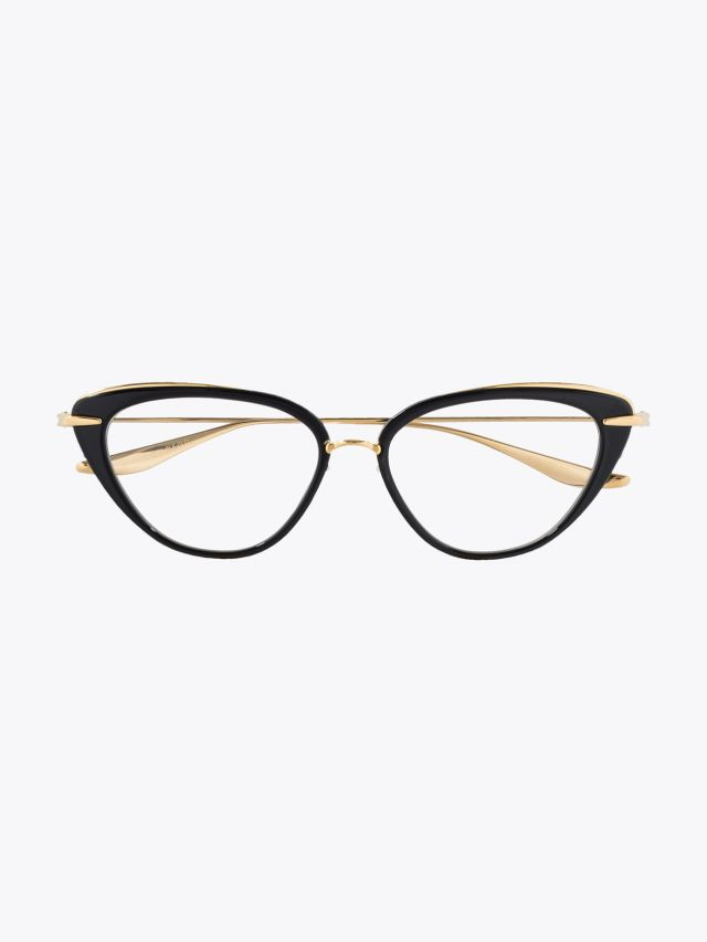 Dita Lacquer Optical Glasses Black – Gold 1