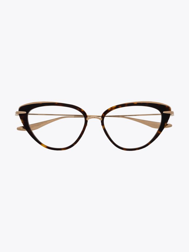 Dita Lacquer Cat-eye Optical Glasses Tortoise Front View