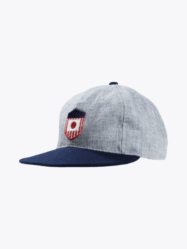 Ebbets Field Flannels US Tour of Japan Cap Grey - Navy 1