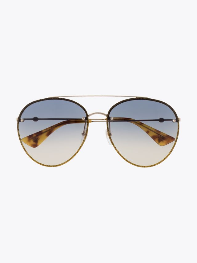 Gucci Aviator Sunglasses Gold / Gold 003 1
