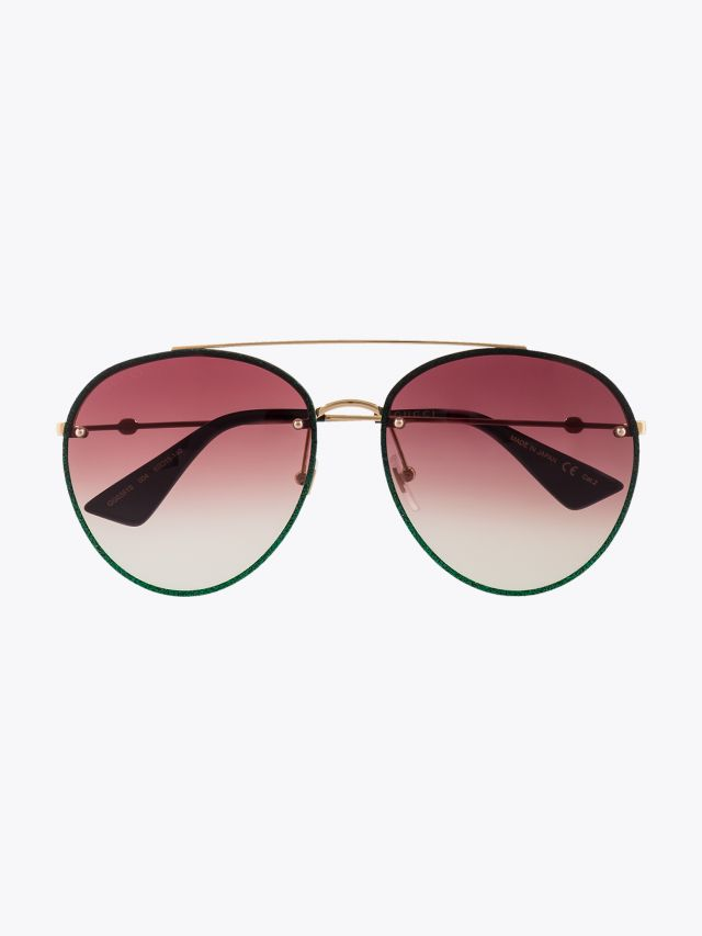 Gucci Aviator Sunglasses Gold / Gold 004 1