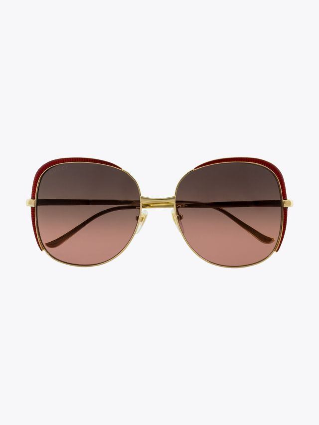 Gucci Squared Shape Sunglasses Gold / Gold 003 1