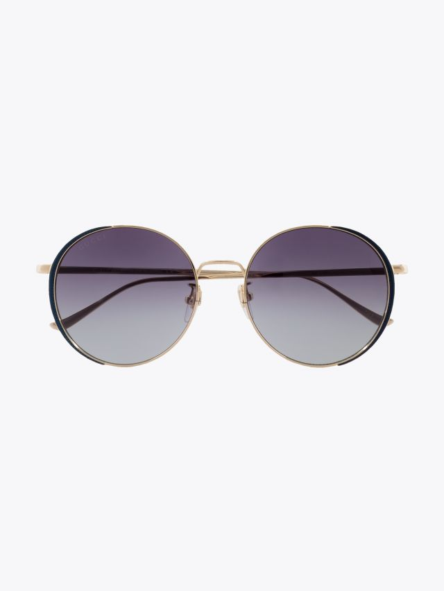 Gucci Rounded Shape Sunglasses Gold / Gold 003 1