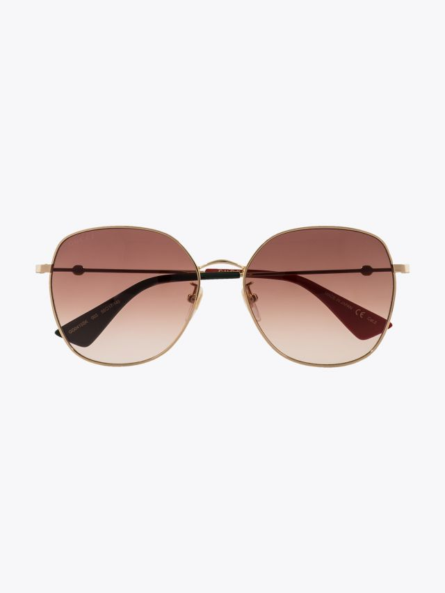 Gucci Round Shape Sunglasses Gold / Gold 003 1