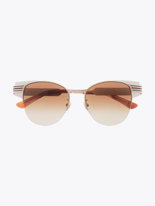 Gucci Cat-Eye Combi Shape Sunglasses Ivory / Gold 1