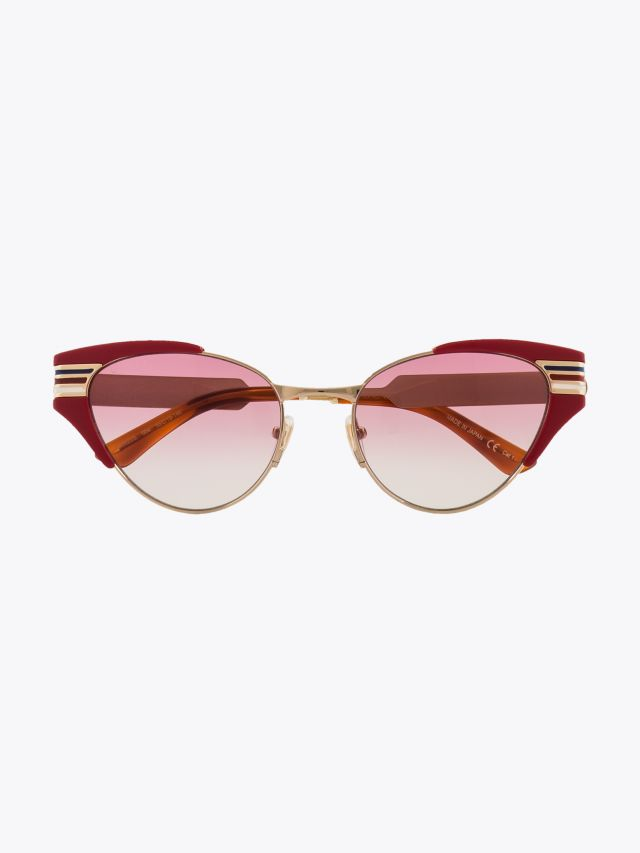 Gucci Cat-Eye Shape Sunglasses Red / Gold 1