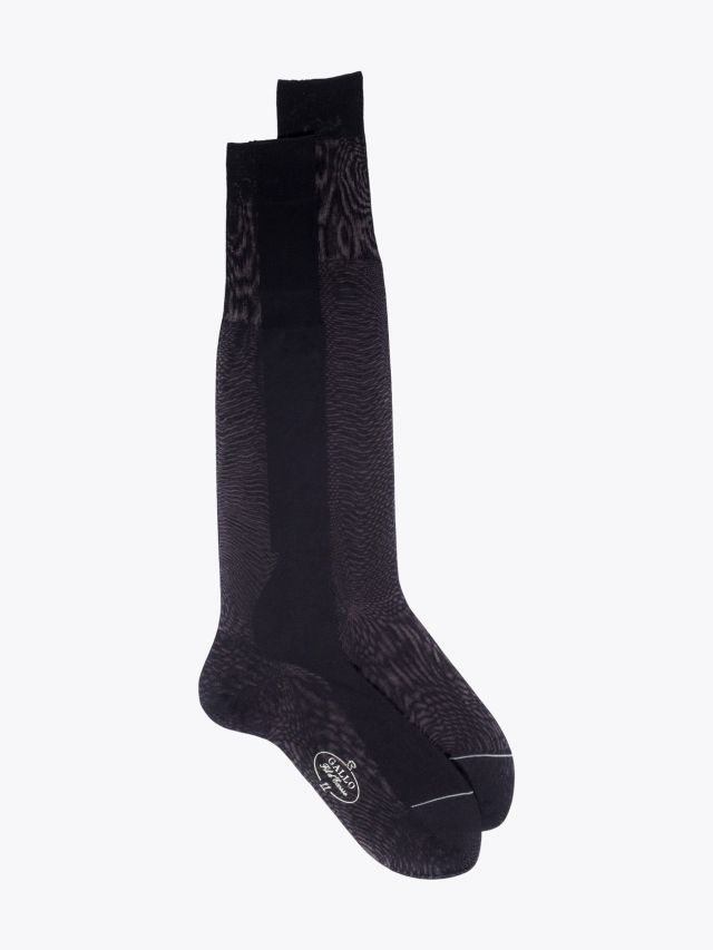 Gallo Plain Cotton Long Socks Black 1