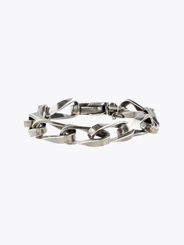 Goti Silver Milled Curb Chains Bracelet 1