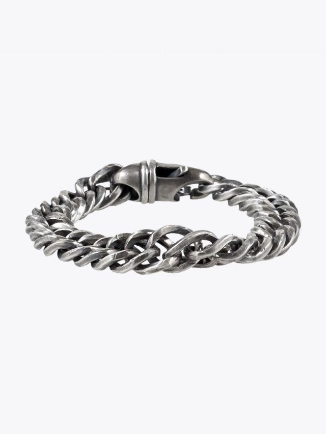 Goti Curb Chain Bracelet Sterling Silver 1