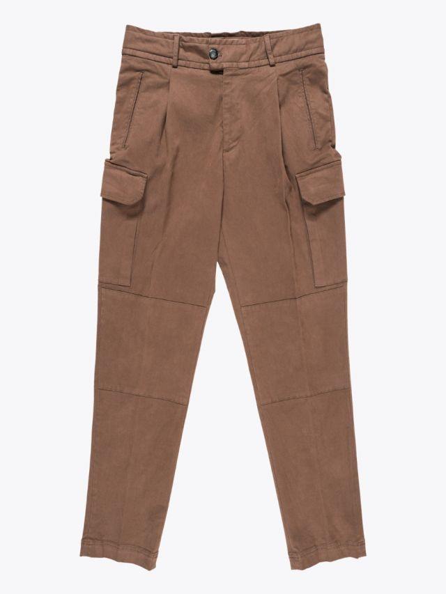 Giab's Archivio Brunelleschi Cotton Cargo Pants Light Brown 1