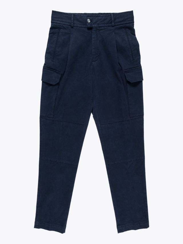 Giab's Archivio Brunelleschi Cotton Cargo Pants Navy Blue 1