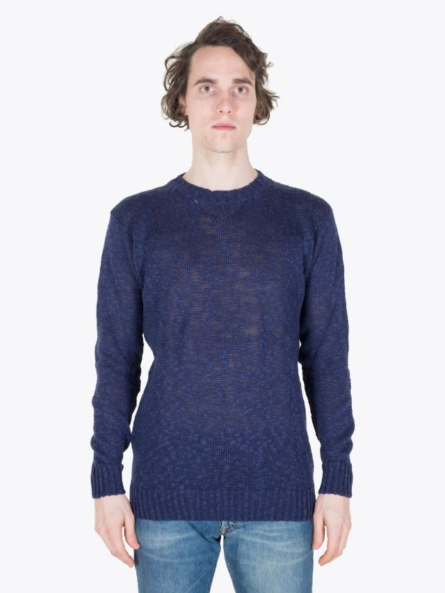 Howlin' Archibald Crewneck Navy Full View