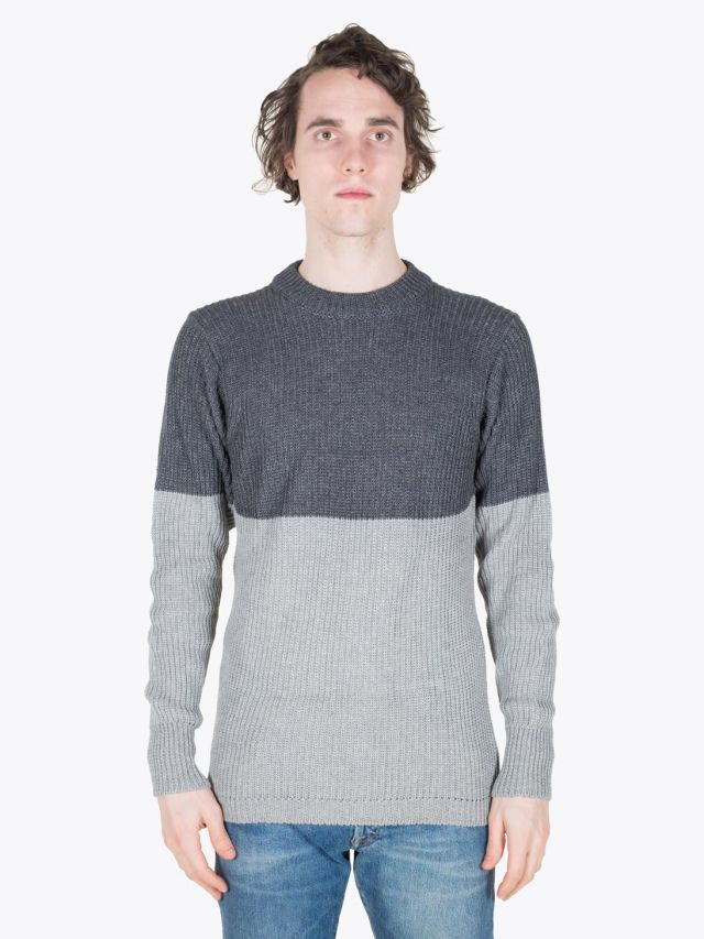 Howlin' Badarou Sweater Charcoal/Lt. Grey Full View