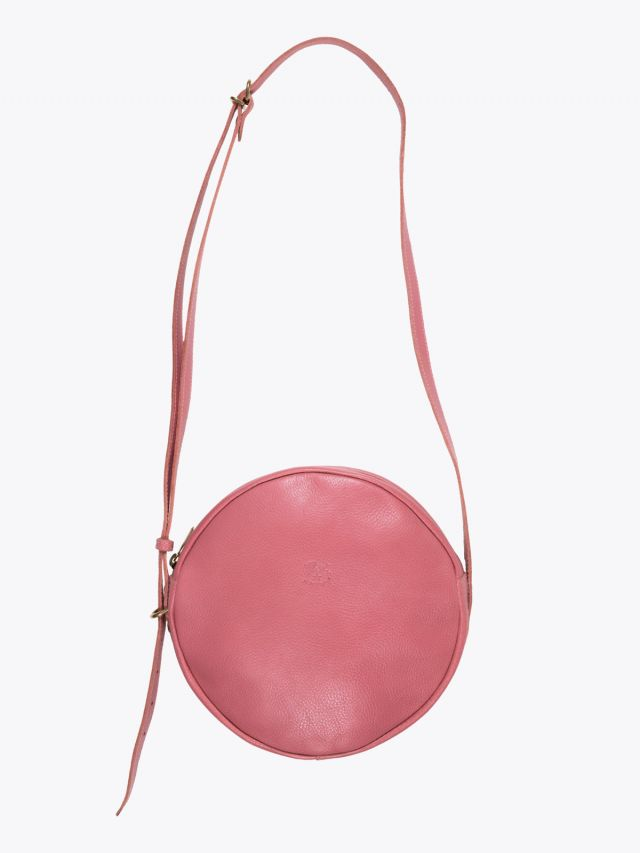Il Bisonte A2664/M Cowhide Leather Round Bag Geranium 1