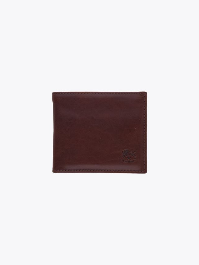 Il Bisonte C0487 Man's Vintage Cowhide Leather Wallet Brown Front