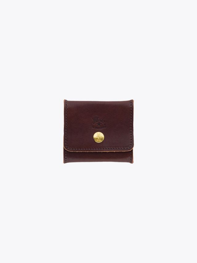 Il Bisonte C0774 Vintage Cowhide Leather Coin-Purse Brown Front
