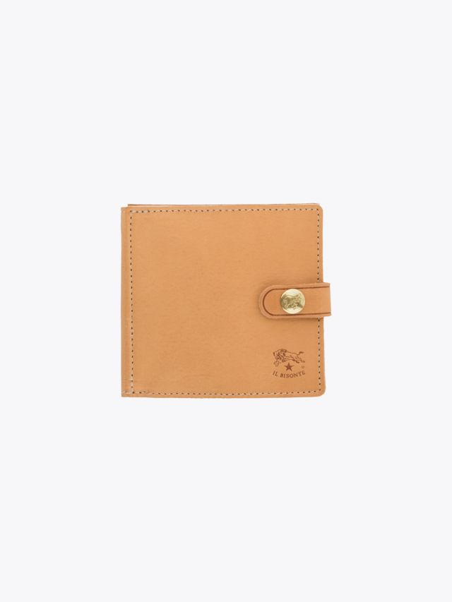 Il Bisonte C0816 Man's Cowhide Leather Wallet Natural Front