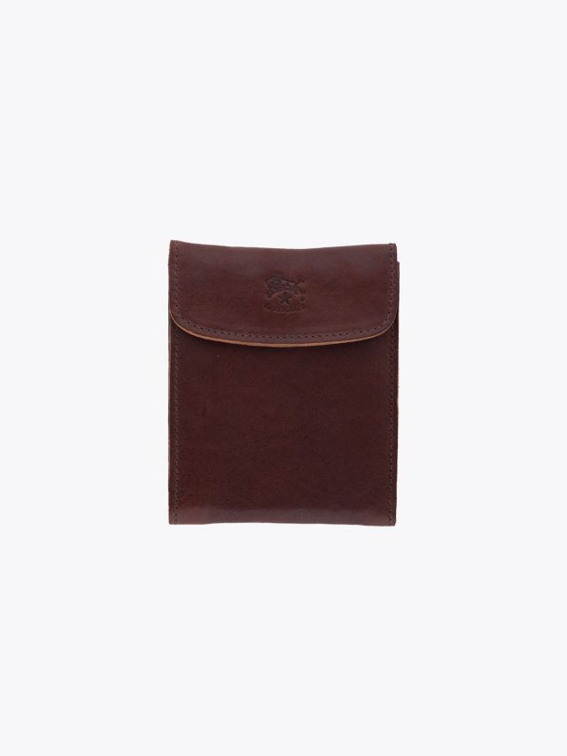 Il Bisonte C0976 Man's Vintage Cowhide Leather Wallet Brown Front