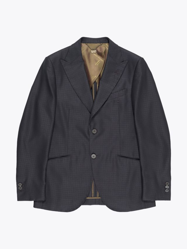 Maurizio Miri Keanu Full Canvas Wool and Silk Suit Jacket Anthracite 1