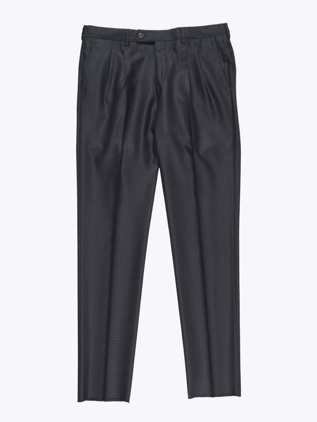 Maurizio Miri Moran Wool and Silk Suit Trousers Anthracite 1