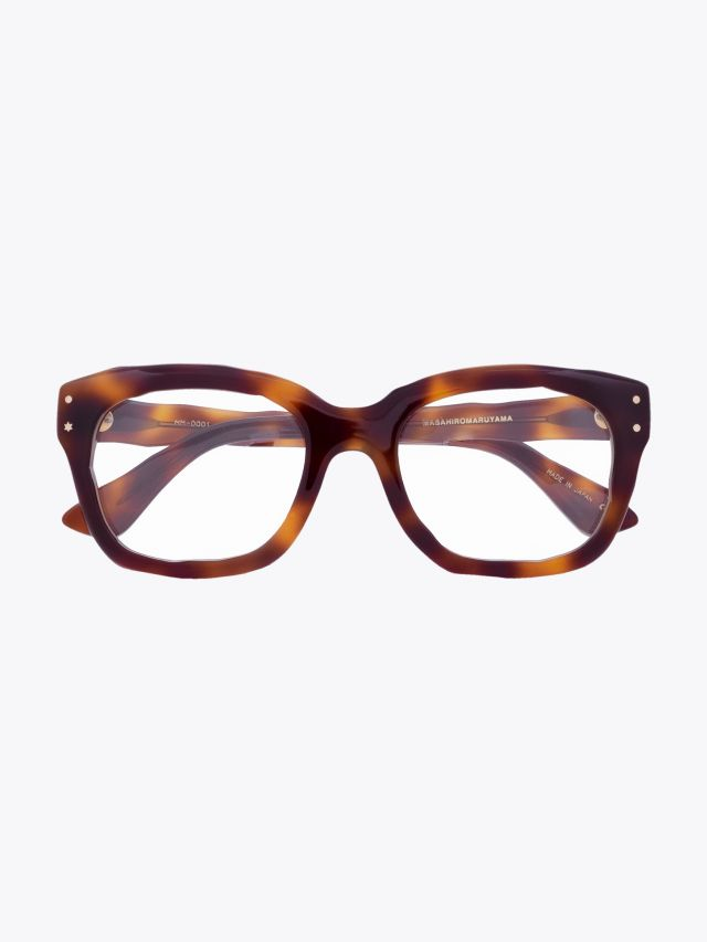 Masahiromaruyama Dessin MM-0001 No.2 Optical Glasses Havana Front View