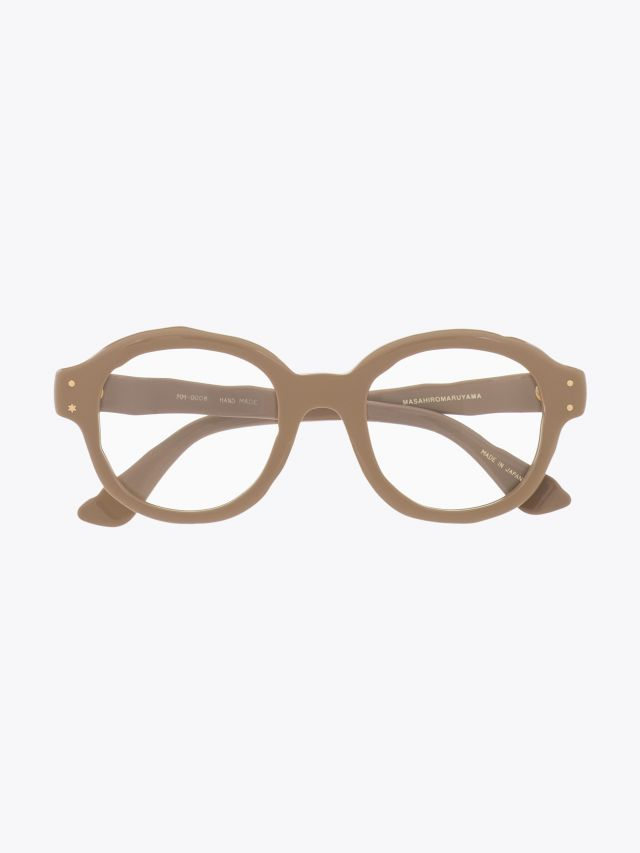 Masahiromaruyama Dessin Optical Glasses MM-0008 No.5 Beige 1