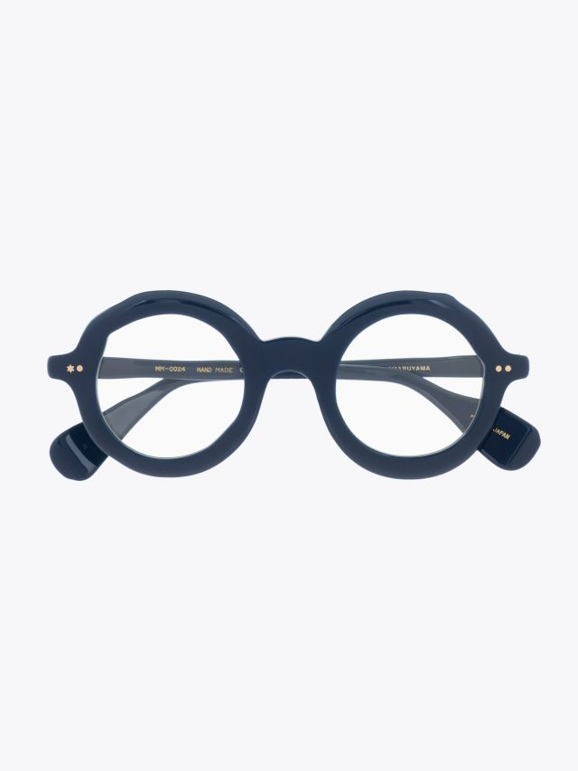 Masahiromaruyama Dessin Optical Glasses MM-0024 No.2 Navy 1