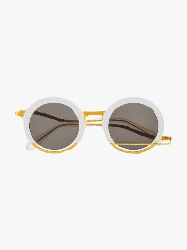 Masahiromaruyama Erase Sunglasses MM-0034 No.3 White / Gold 1