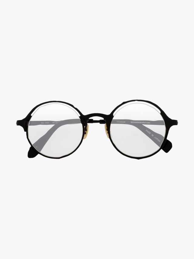 Masahiromaruyama Monocle MM-0052 No.2 Optical Glasses Black / Black Front View