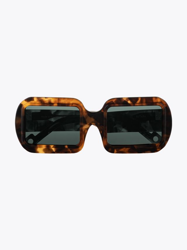 Pawaka Dualima 25 Square-Frame Sunglasses Dawn Front View