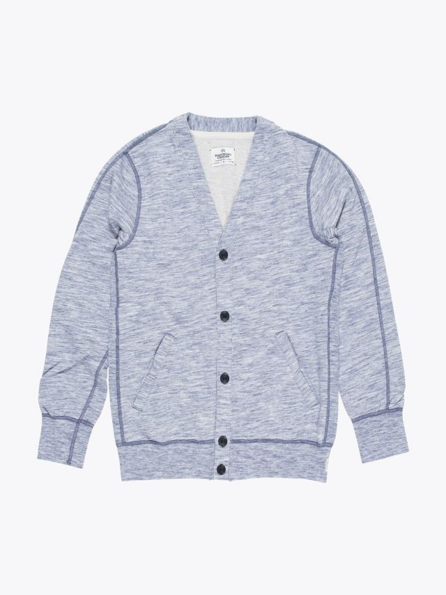 Reigning Champ Cardigan Alpine Blue Front