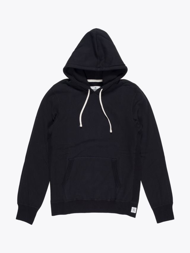 Reigning Champ Pullover Hoodie Black Front
