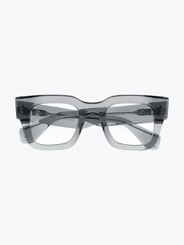 Robert La Roche + Christoph Rumpf Midnight Squared Optical Glasses Crystal Smoke Front View