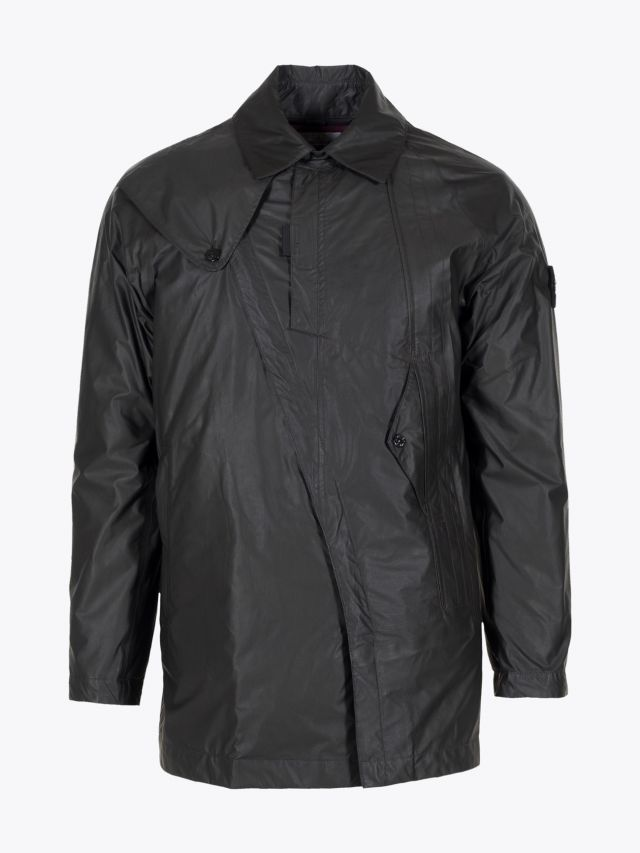 Stone Island 435Y1 Permanent Water Repeller Gore-Tex Infinium Soft Lined Shell Coat Black 1