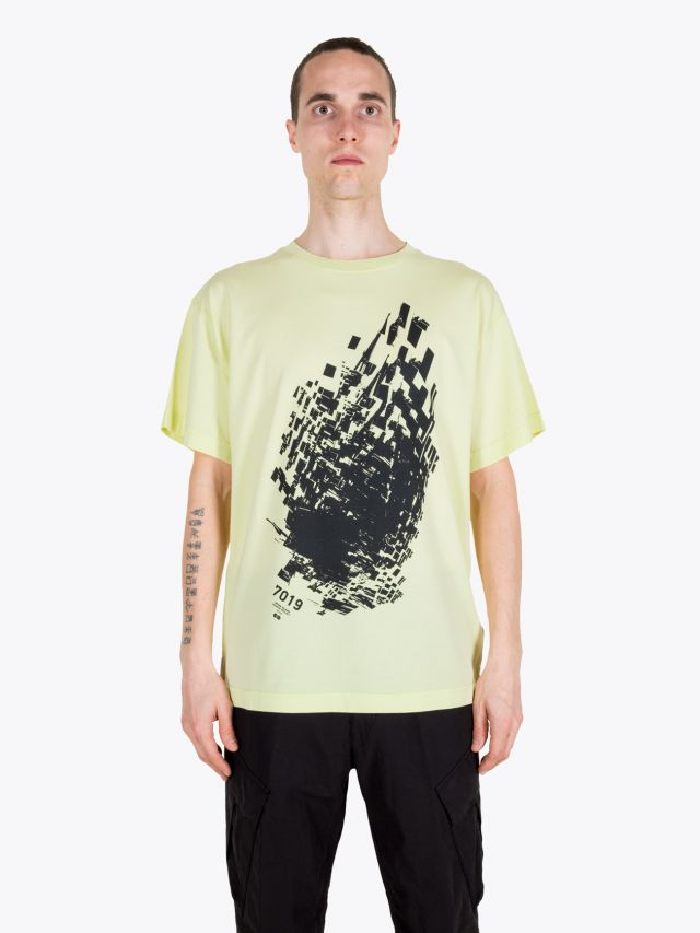 Stone Island Shadow Project 20510 Jersey Mako Printed Short Sleeve T-shirt Pistachio 1