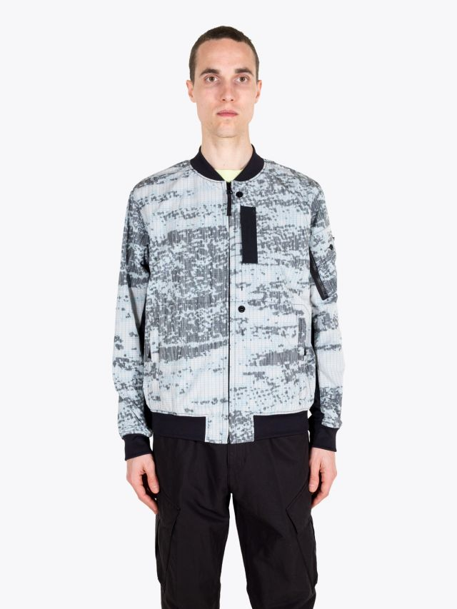 Stone Island Shadow Project 40412 DPM Chiné Bomber Jacket Grey 1