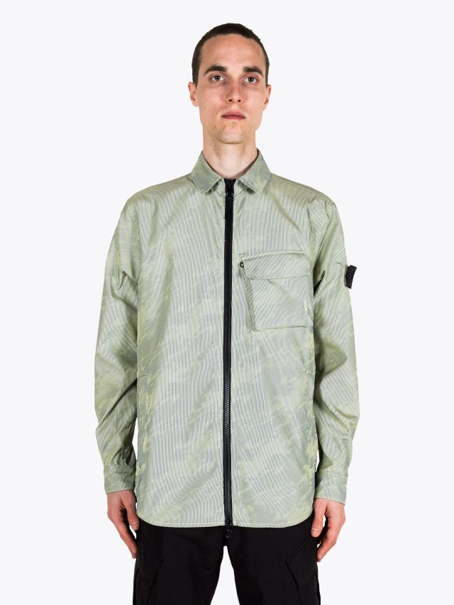 Stone Island Shadow Project 41104 Lenticular Jacquard Overshirt Lemon 1