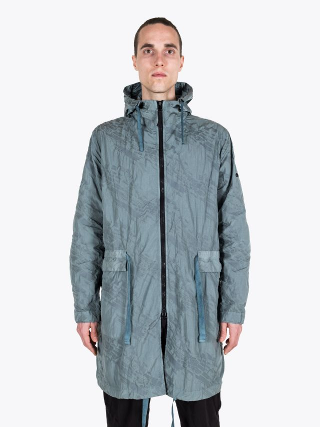 Stone Island Shadow Project 70305 Imprint Nylon Packable Raincoat Sage Green 1